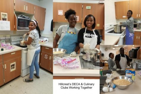 Hillcrest's DECA & Culinary Clubs Working Together