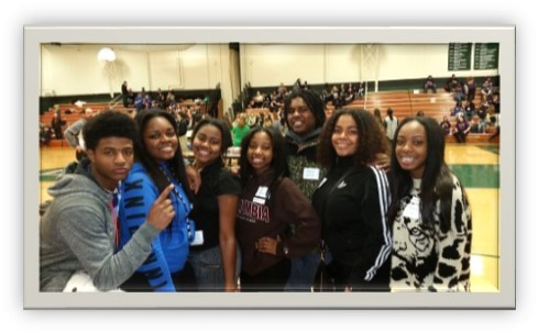 Hillcrest Students Aaron Smith, Monique Parks, Eriana James, Teri Easter, Darnell Gilton, Jada Roberts, and  Armani White at the SSC Leadership Conference