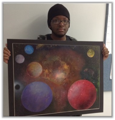 Hillcrest's Ogechi Oparah ('15) wins at Regional Art Exhibit!