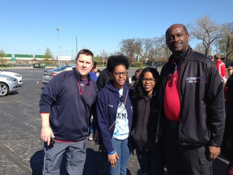 Paul Skach, Lasondra Record, Alexis Simmons, & Jeff Fields at U.S. Cellular Field for Ford Driving Skills for Life.