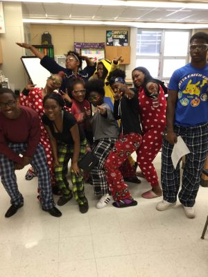 Hillcrest students dressed for Pajama Day 9/19/16