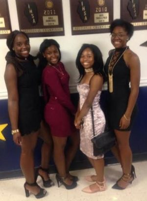 BPA Students at the Homeconing Dance: Aleyah Arzu, Darlene Moore-Jones, Tia Pollard, & Deloris Ivery (2016).