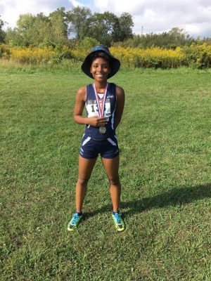 Jazmine Curry at Girls Cross Country Illiana Christian Invite 2016.