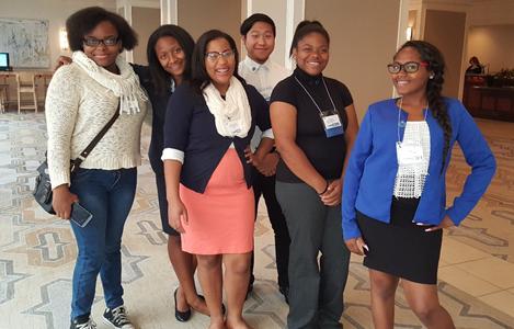 DECA Students at the Oak Brook Fall Leadership Conference (L to R): Kandi Pickett, Tyler Allen, Destiny Jackson, Ron Luu. Francis Brown, & Taliah Woodson