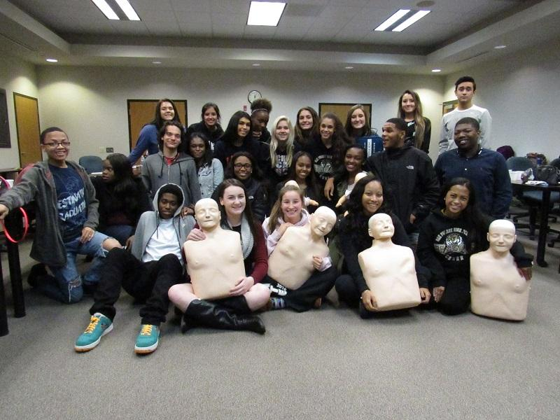 Hillcrest+%26+Oak+Forest+students+worked+towards+their+CPR+Certification.
