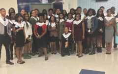 The Hillcrest High School Falcones chapter of the National Honor Society inducts new members (2016).