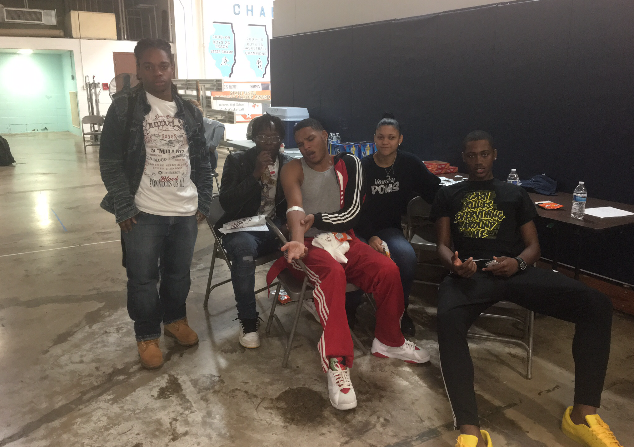 David, Nafis, Jawaun, & Sidney are all waiting at the Hillcrest Blood Drive. (10/16)