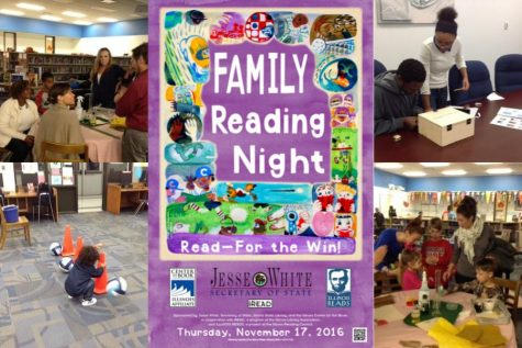 Families, friends, & students participate in Hillcrest's Family Reading Night. Graphic courtesy of cyberdriveillinois.com