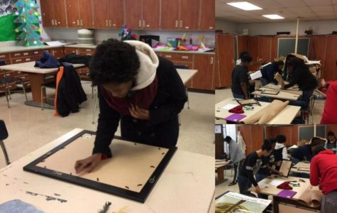 Hillcrest students prepare their artwork submission to the Black Creativity Juried Art Exhibition: 2017