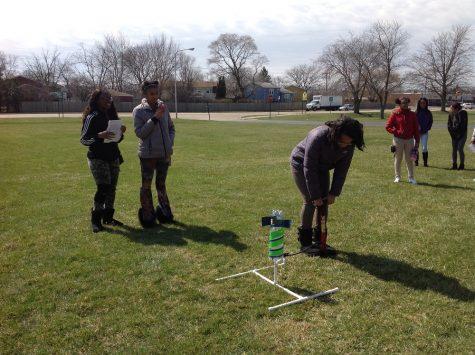 Hillcrest High School Algebra Students Launch Water Rockets