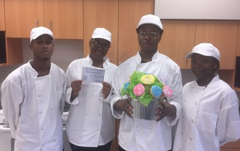 Hillcrest's 1st place cupcake team: L.G. Williams, Sandra Walker, Andre Smith, & Eyani George