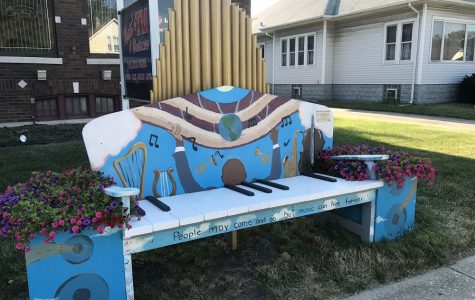 Hillcrest's Art Society brings art to the streets of Tinley Park for the 2017 Benches on the Avenue: 'The Power of Music'