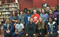 Hillcrest's Flight Poetry Club meets Bestselling Author Carrie Jones