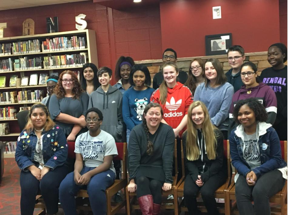 Students from Tinley Park and Oak Forest join Hillcrest Flight members Ciera Bailey, Mercedez Olmedo, Immanuel Moore, and Dinah Moore.