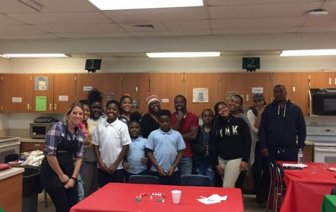 Hillcrest students and family come together to prepare a meal during Family Cook Night. (12/17)