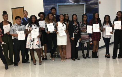 New members inducted into the National Honor Society:  10/25/2018