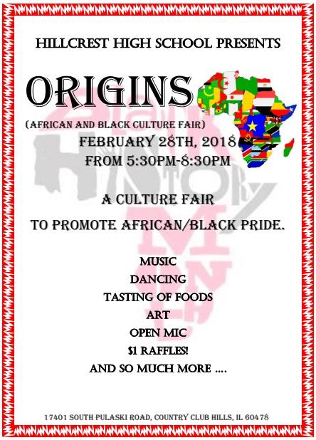 Public Invited to Hillcrest's Origins Fair