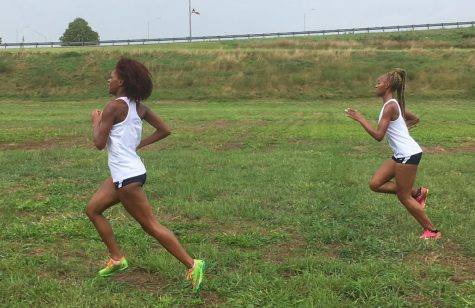 Jennah Richard and Daisha Ash compete during the Hillcrest Invitational (9/1/18)