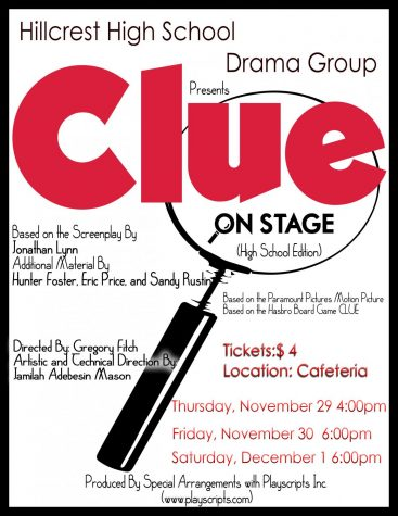 "Hillcrest HS Drama Group Announces Performances of ""Clue: On Stage (High School Edition)"""