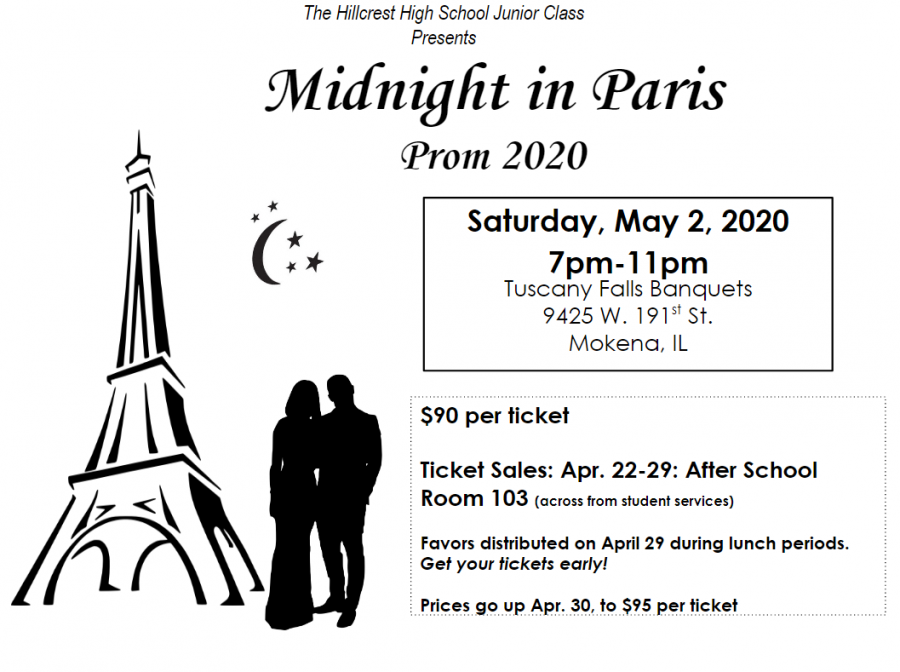 Hillcrest Junior Class Announces Prom Details
